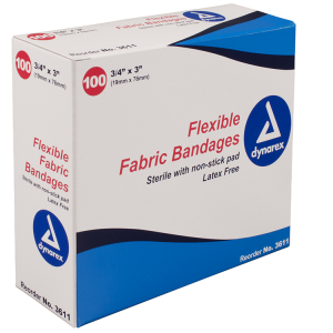 "1' X 3"" Flexible Fabric Adhesive Bandages"