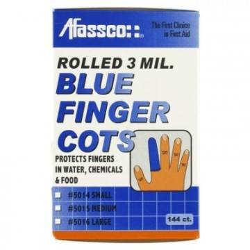 Finger Cots Blue, 144/Box