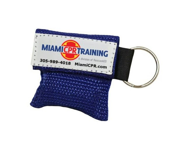 One Way Barrier CPR Mask Keychain